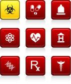 ícones médicos. — Vetorial Stock