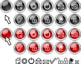 Conjunto de iconos web. — Vector de stock