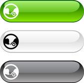 Botón de ecología. — Vector de stock