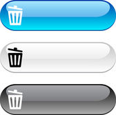 Recycle bin button. — Vecteur