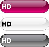 HD button. — Stock Vector