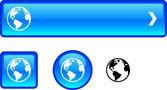 Planet button set. — Stock Vector