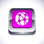Network 3d button. — Stock Vector