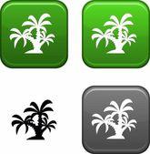 Tropical button. — Stock Vector