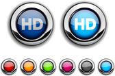 HD button. — Stockvektor
