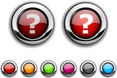 Question button. — Stock Vector