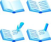 Book icon set. — Stock Vector