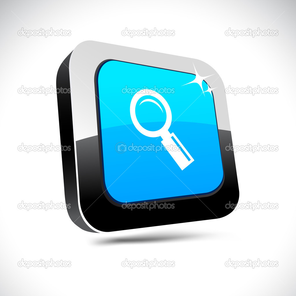 Searching 3d square button. — Stock Vector © Maxborovkov ...