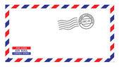 Christmas airmail envelope — Stock Vector