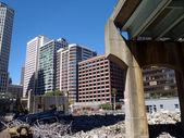 毁坏公路在市中心三藩市 — 图库照片