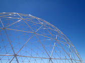 See through Geodesic Dome with blue sky — Stock Photo