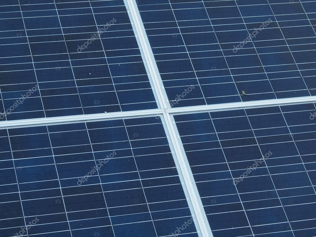 Solar Panel On Side Of Building : Top view solar panel mounted as a canopy on the side of