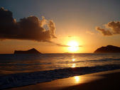 Sunrises over Kaohikaipu (Black/Turtle) Islands — Stock Photo