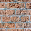 Brick wall cemented together thats has had spray paint removed f — Stock Photo #5061715