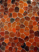 Orange tile mosaic pattern — Stock Photo
