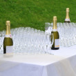 Stock Photo: Champagne and cups