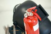 Welding equipment & Fire Extinguisher — Stock Photo