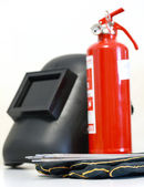Welding equipment & Fire Extinguisher — Stock Photo