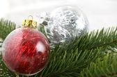 Jul dekoration bubles — Stockfoto