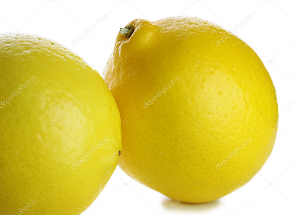 Lemons isolated on white background  Stock Photo #4591054