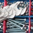Spanners, bolts and nuts — Stock Photo