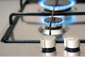 Aparelho de cozinha de gás natural — Foto Stock