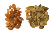Raw and Roasted Pumpkin Seeds — Stock Photo