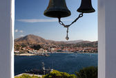 View to Myrina from Agios Nicolaos — Stock Photo