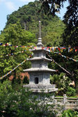 Pagoda in vietnamese temple — Stock Photo