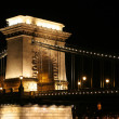 Bridge in Budapest by night — Stock Photo