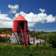 Old windmill on Faial island - Stock Photo