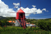 Old windmill on Faial island — Stock Photo