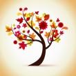 Autumn tree illustration — Stock Vector