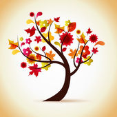 Autumn tree illustration — Stockvector