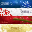 Set of winter christmas banners vol. 01 - Stok Vektör