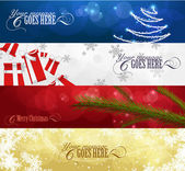Set of winter christmas banners vol. 01 — Vettoriale Stock