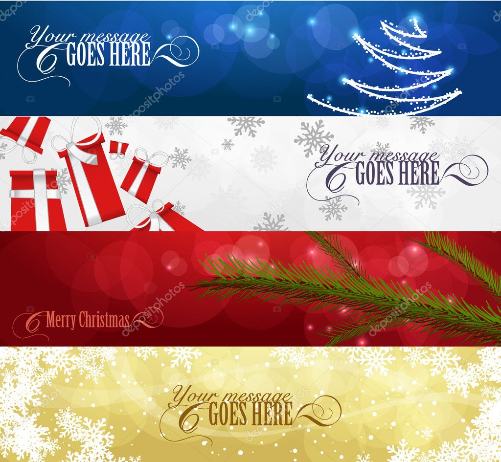 Set of winter christmas banners vol. 01  Stock Vector #4024516