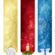 Stock Vector: Set of winter christmas vertical banners vol. 01