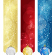 Royalty-Free Stock Vector Image: Set of winter christmas vertical banners vol. 02