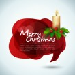 Christmas banner text in the form of the bubble — Stock Vector
