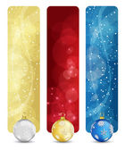 Set of winter christmas vertical banners vol. 02 — Stock Vector