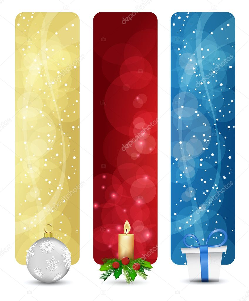 Set of winter christmas vertical banners vol. 01 — Stock Vector #4033299