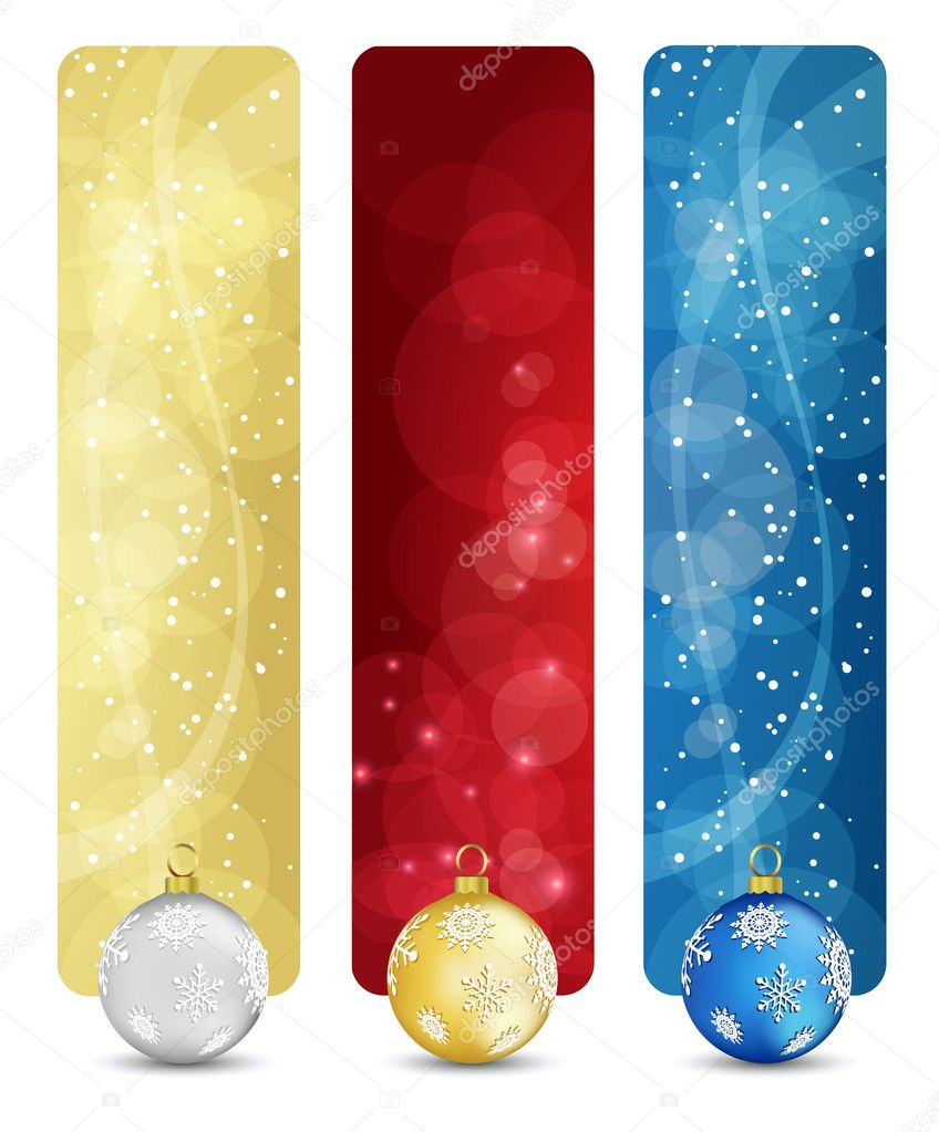 Set of winter christmas vertical banners vol. 02  Stock Vector #4037937