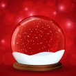 Christmas snow globe with glittering lights — Stock Vector