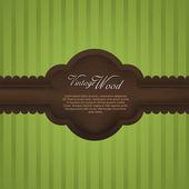 Elegant wood vintage frame — Stock Vector