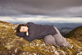 Snooze on top of the world — Stock Photo