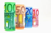 Euro Currency Banknotes — Stock Photo