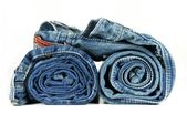 Rolled up Jeans — Stock Photo