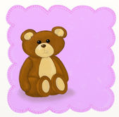 Teddy bear - Childish style — Stockfoto