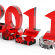 2011 new year comes into legal rights — Stock Photo